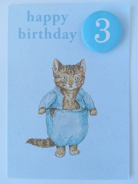 Birthday Card - Miss Moppet Age 2